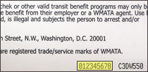 9-digit SmarTrip number